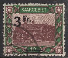 SAAR: 1921 3F on 10m brown & yellow-green  SG 82 used