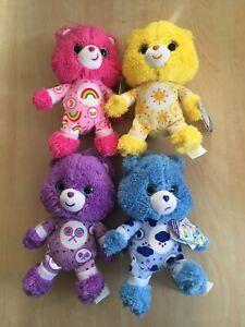 Care Bears Cub Plush. Cheer, Grumpy, Funshine, Share. Plus 1 blind bag NEW