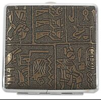 High Quality Egyptian Style Vintage Large Cigarette Case/Box Brown