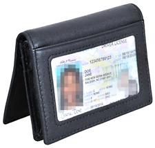 Rfid Slim Wallet Men Thin Bifold Front Pocket Wallet Genuine Leather Card Holder