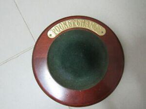 Vintage Wooden POCKET CHANGE Dish Collection Plate