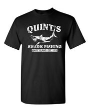 QUINT'S SHARK FISHING Jaws RETRO Amity SHARK Week Men's Tee Shirt 1206