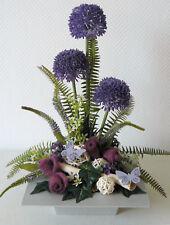 Gesteck Allium lila Tischdekoration Tischgesteck Tischdeko Frühling Sommer