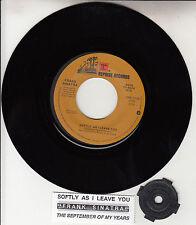 "FRANK SINATRA  Softly, As I Leave You  7"" 45 rpm record + juke box title strip"