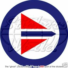"NORWAY Norwegian Air Force Aircraft Roundel RNAF 4"" (100mm) Vinyl Sticker, Decal"