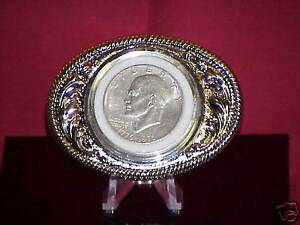 IKE SILVER Dollar Classy Belt Buckle Silver SUPER SALE!