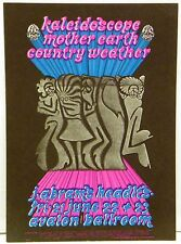 1968 Kaleidoscope Mother Earth Country Weather Concert Postcard Handbill FD124
