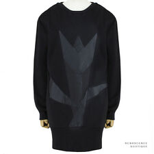 Stella McCartney Black Tulip Panelled Long Sleeved Sweater Dress IT42 UK10
