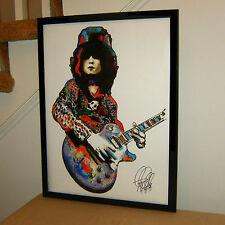 Marc Bolan, T. Rex, Guitar, Vocals, Musician, Glam, Hard Rock 18x24 POSTER w/COA