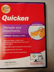Quicken PREMIER Personal Finance for Windows and Mac 1 year subscription 2021