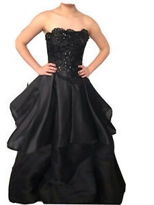 CHRISTIAN DIOR  Robes du Jour Black Gown Dress   Size 4