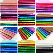 Mixed 7Sheets Bundle Pack Glitter Fabric Sparkle Hair Bow Craft Material A4/A5