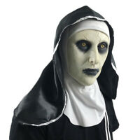HB- Halloween The Nun Horror Mask Cosplay Valak Scary Latex Masks with Headscarf