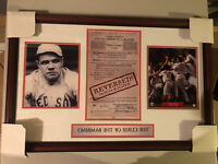 """Boston Red Sox Framed """"Curse Of The Bambino"""" 2004 World Series 2004"""