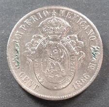 Mexico - Maximilian, Silver 50 Centavos, 1866, scratches