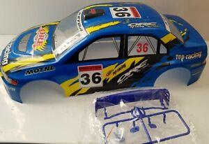 1/10 RC car 190mm on road rally drift Mitsubishi Body Shell w/spoiler Blue