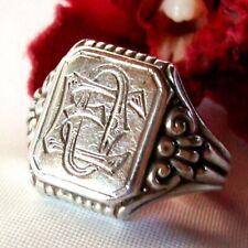 alter Siegelring 835 Silber mit Monogramm EO oder OE Fingerring / ef 741