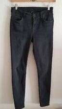 Hallhuber Jeans Skinny CANDIANI 38 Schwarz Grau Denim Dark Grey Denim