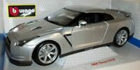Burago 1/18 scale Diecast 18-12079 Nissan GTR 2009 Silver