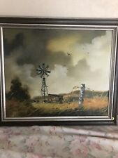 Beautiful Vintage Oil On Canvas Painting By Listed Artist Hector Salas