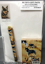 New Australian Cattle Dog Playing Card Pen & Note Pad Set By Ruth Maystead Dogs