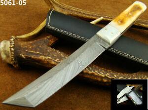 ALISTAR BEAUTIFUL HANDMADE DAMASCUS STEEL TANTO KNIFE HUNTING W/SHEATH (5061-5