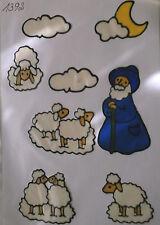 Window Color Fensterbilder Schäfer mit seinen Schafen + Wolken