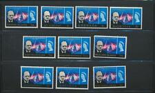 Winston Churchill and Queen Elizabeth II honored  ten different Mint NH British