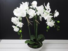 NEW Artificial Orchid plant in Pot Real touch Home Office Garden Decor-6036Y