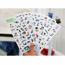 6 sheet Cute Cat Sticker Decor Diary Album Planner DIY Scrapbooking Craft