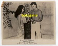 ED DEW NANI MAKA ORIGINAL 8X10 PHOTO BARECHESTED WEARING LEI 1961 PAGAN ISLAND