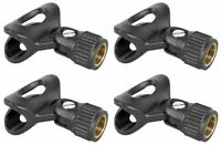 4) Rockville Universal Microphone Clip Clips For Wired Mic Such as SM57/SM58 Etc