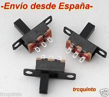 Micro interruptor, dos posiciones, 1 comun y dos salidas. (3 unidades)