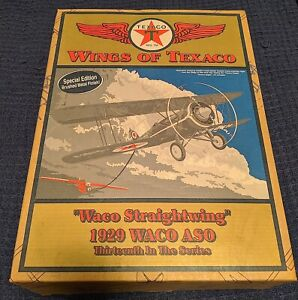 ERTL Wings of Texaco 1929 WACO ASO 13th in the Series SE Brushed Metal finish!