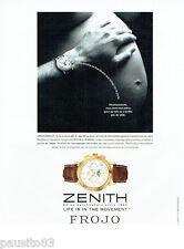 PUBLICITE ADVERTISING 096  1999  Zenith  montre El Primero chronomaster