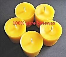 100% Pure Beeswax Aromatherapy Votive Candles Natural Cotton Wicks 2 oz Premium