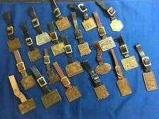 Vintage Heavy Construction Equipment Advertising Watch Fobs, 20 pieces