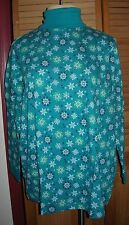 1X (22W 24W) Woman Within Long Sleeve Turtleneck Jade Snowflake