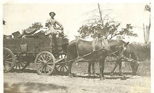 VIntage Postcard-Horse drawn wagon