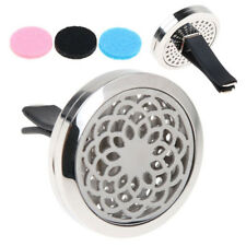 Stainless Car Air Vent Freshener Essential Oil Diffuser Locket Aromatherapy  NW