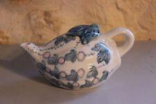 Piccola Teiera Scenografo Cinese - Cina - Ceramica - Foglia Vegetale Maiolica
