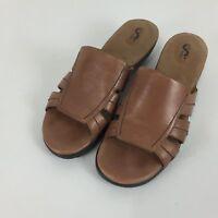 Soft Walk Women's Comfort Cushion Slides Sandals Brown Size 8.5 M