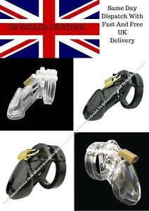 Plastic Male Chastity Cage Device Restraint 3 Colours 2 Sizes UK SELLER UK STOCK