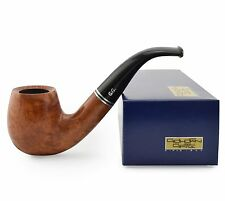 "NEW Briar Wood Tobacco Smoking Pipe bent ""Brandy Y"" for 9 mm filter, ~ 5-1/4"""