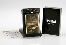 LIMITED GOLDEN ROLLEI ** ZIPPO **  LIGHTER // RARE AND UNUSSUAL ITEM !!!!