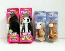 Pez Cats And Dogs Fuzzy Friends Keychains 4 pcs