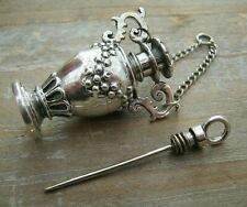 Beautiful Hallmarked Sterling Silver Urn Shaped Chatelaine Scent Perfume Bottle