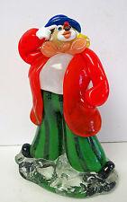 Czechoslovakia / Bohemian Art Glass Clown Green Pants Red Top Coat LOOK!