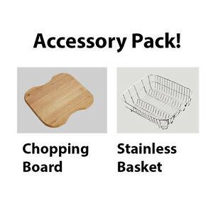Chopping Board & Dish Basket Accessory Combo For your Kitchen Sink