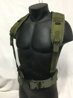 MED PISTOL BELT & Y SUSPENDERS SET LBE ALICE WEB GEAR US ARMY USMC MILITARY VGC